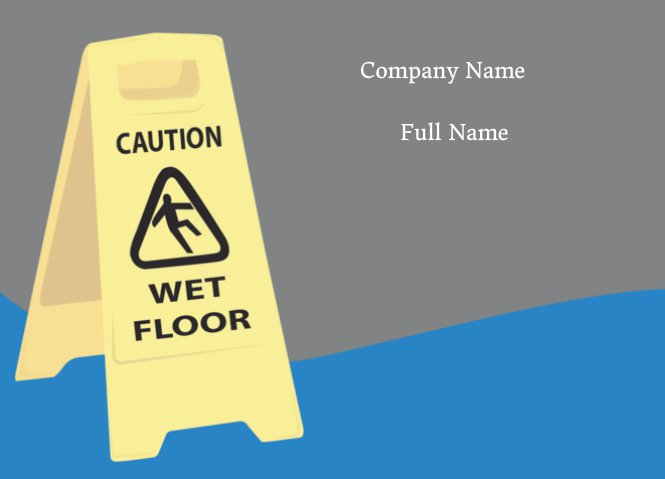 Janitor Wet Floor Sign